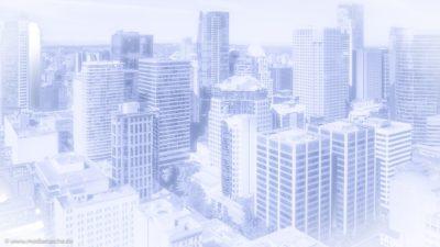 Blick auf eine Downtown einer Großstadt.