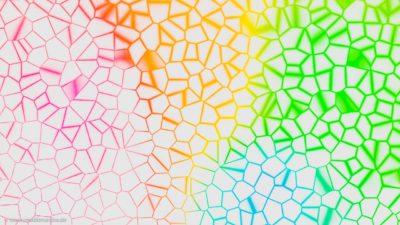 Hintergrundgraphik, die ein stilisiertes buntes Glasfenster darstellt