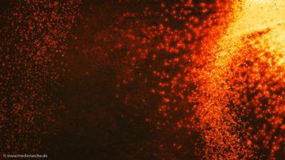 Eine abstrakte Darstellung einer Feuerglut