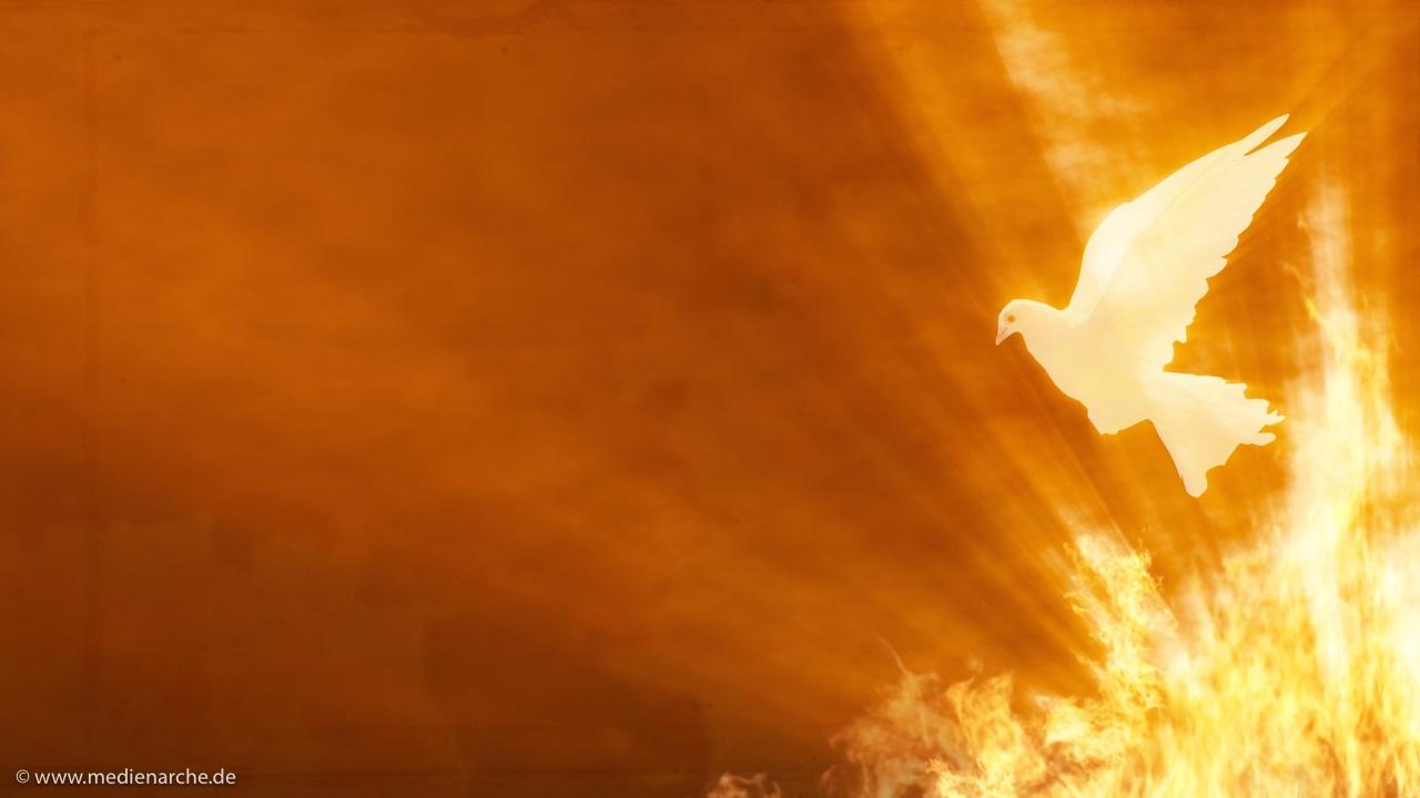 Symbole des Heiligen Geistes - Taube und Feuer
